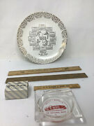 Vintage Boyertown Pa Reading Bally Advertising Lot Plate Rulers Ashtray Bauses