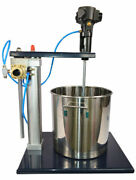 High Quality 5 Gal Guide Rail Type Pneumatic Mixer With Stand Tank Barrel Paint