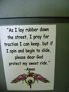 Protect My Ride Prayer Sticker For Hot Rods Gasser Rat Rods.