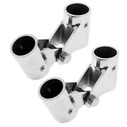 2pcs/set 1 Boat Hand Rail Fittings Swivel Tube Pipe Connector Stainless Steel