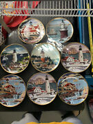 Royal Doulton Limited Edition Collector Plates By Franklin Mint. Set Of 8 Mint