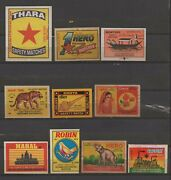 India Vintage Approx 500+ Different Match Box Labels In Excellent Condition