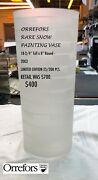 Orrefors Rare Snow Painting Vase 18-3/4andrdquo Tall X 8andrdquo Round - 2003 Limited Edition