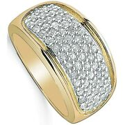 Diamond Ring 1 Carat Yellow Gold Dome Band Appraisal Certificate