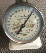 Vintage American Family Nursery Scale 30 Lbs White, Removable Top, Super Nice