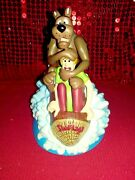 Extremely Rare Hanna Barbara Scooby Doo And Shaggy In Six Flags Figurine Statue🤎