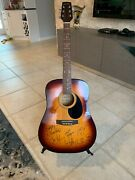 Galveston Acoustic Guitar Six String. Signed By 8 Chicago Band Members. 1992 Coa