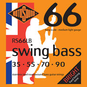 Rotosound Stainless Steel Roundwound Medium Light 4 String Bass 35-90 Rs66lb