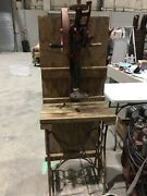 Antique Champion Blower And Forge Co Hand Drill Press 102-3 W/new Home Cast Base