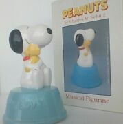 Vintage Peanuts Snoopy And Woodstock Puppy Love Willitts Ceramic Music Box
