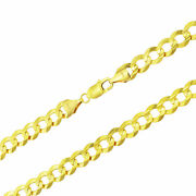 10k Yellow Gold Solid 11.5mm Wide Mens Genuine Curb Cuban Chain Necklace 24-30