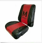 Mahindra Tractor Seat Cover Red And Black -big Back