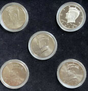 2010 Uncirculated 5 Piece Kennedy Coin Set In Plastic Cases