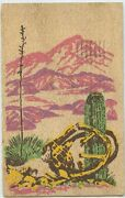 Yucca Wood Posted 1945 Free Postage Luke Field Air Force Vtg Postcard