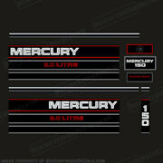 Mercury 150hp Blackmax 2.0 Litre Decal Kit 1995+ Decal Reproduction 150 Hp Liter
