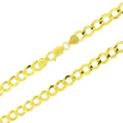 Authentic 10k Yellow Gold Solid 8mm Mens Cuban Curb Chain Link Necklace 28in 28