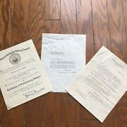 3 Letters By The Wwii Secretary Of Navy Signed James Forrestal