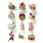 Lenox 12 Days Of Christmas Miniature Tree Ornaments-new In Gift Box