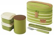 Thermos Japan Lunch Box Stainless Steel Heat Preservation Lightweight Bag Fork