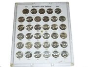 1948-1963 50c Franklin Half Dollar Collection In Capital Plastic All Ch To Gem