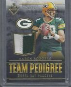 Aaron Rodgers 2017 Majestic Team Pedigree Gold 2 Color Packers Patch D 18/25