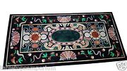 4and039x2and039 Marble Dining Table Top Mosaic Pietradura Inlay Decor Christmas Furniture