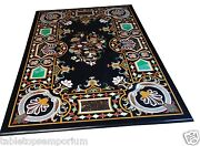 4and039x2and039 Marble Dining Table Top Rare Inlay Fine Art Living Room Mosaic Home Decor