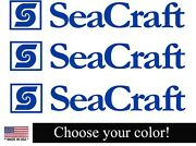 Seacraft Boat Lettering Vinyl Decals Boat Stickers 3 Piece Set
