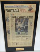 Original Vince Young First Nfl Win Titans Plaque Good Luck Jeb Texas Longhorns