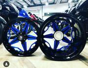 Black And Blue Stock Size Speed Star Wheels 2009-2014 Yamaha R1