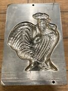 """Antique Bodderas Erndtebruck Germany Mold 4252 Rooster Chocolate Mold 14x9.5"""""""