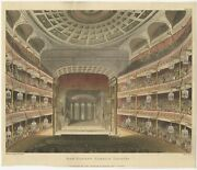 Antique Print Of The Royal Opera House By Ackermann 1810