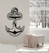 Vinyl Wall Decal Anchor Ocean Sea Cable Marine Sailor Art Beach Stickers G2341