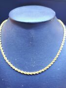 18k Yellow Gold Designer Long Overheadrope Chain/necklace