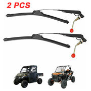 2pcs Manual Hand Operated Windshield Wiper Universal For Polaris Rzr Xp Can Am