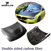 Front Hood Cover For Bmw 3 4 Series F30 F32 F33 F36 14-19 Double Sided Carbon