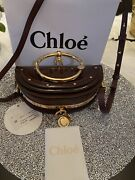 Nwt Chloandeacute Nile Bag Glossy Patent Burnt Brown Whith Receipt 1750 Sold Out