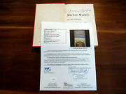 Mickey Mantle Ny Yankees Hof 2 X Signed Auto Mantle Of The Yankees 1958 Book Jsa