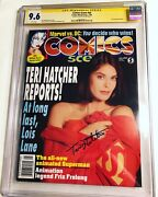 Cgc Ss 9.6 Comics Scene 54 Signed By Teri Hatcher Lois And Clark Superman Not 9.8