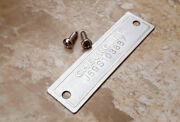 1953 -1963 Chevrolet Data Plate Id Tag With 2 Holes And 2 Screws Polished