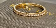 Sold Out Bony Levy 18 K Yellow Gold Pave Diamond Stackable Band Ring Size 7