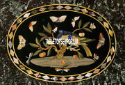 2.5and039x5and039 Butterfly Design Marble Table Top Inlay Stones Bird Art Marquetry Decor