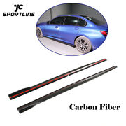 2pcs Side Skirts Door Panels Cover Trim For Bmw G28 M-sport 2019up Carbon Fiber