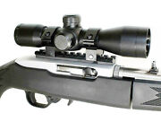 4x32 Rifle Scope For Ruger 10/22 W/free Weaver Mount Andrings Hunting Tactical Blk