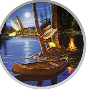 2015 30 2 Oz Fine Silver Coin Moonlight Fireflies Glow In The Dark Canada