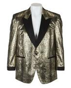 Bb King Owned And Stage Worn Custom Jacket Coat Julienand039s Gold/ Black Animal Print