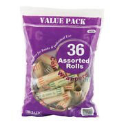 Bazic Assorted Size Coin Wrappers 36/pack Pack Of - 50