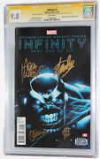 Infinity 1 Cgc 9.8 Signed 4x In Gold By Stan Lee Kubert Ponsor Cheungthanos