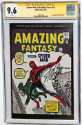 Spider Man Collectible Series 1 Cgc 9.6 Ss Stan Lee Amazing Fantasy 15 Homage