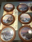 Thomas Kinkade Plates Framed By Van Hygan And Smythe - Collector Limitted Edition